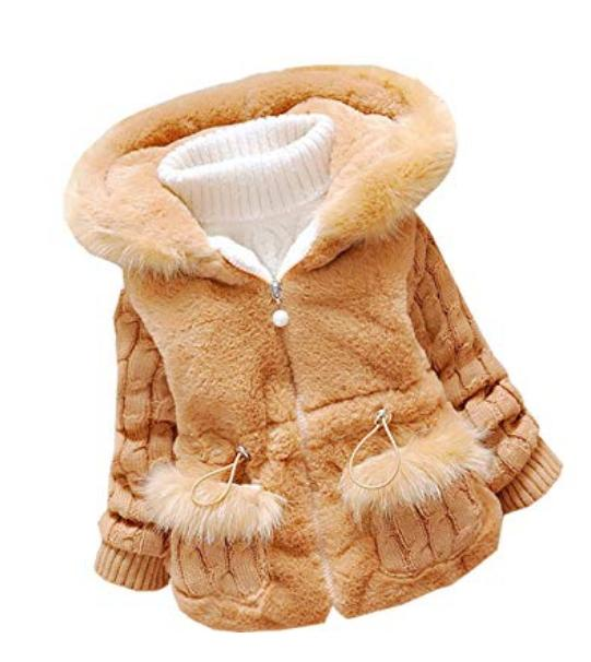 DORAMI Baby Girls Winter Autumn Warm Jacket Coat-Free Shipping....