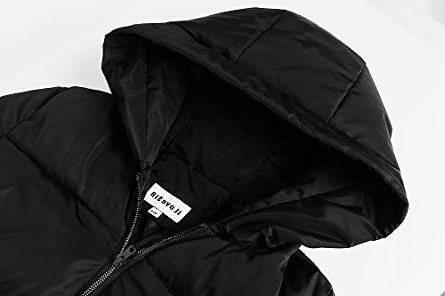 iLoveSIA Women's Down Quilted Puffer Coat with Hood Black Size