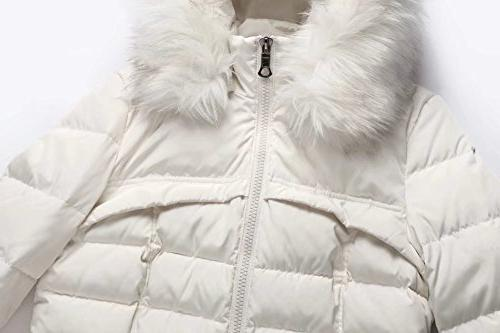 Valuker Women's Parka Puffer 57-Creme-2XL