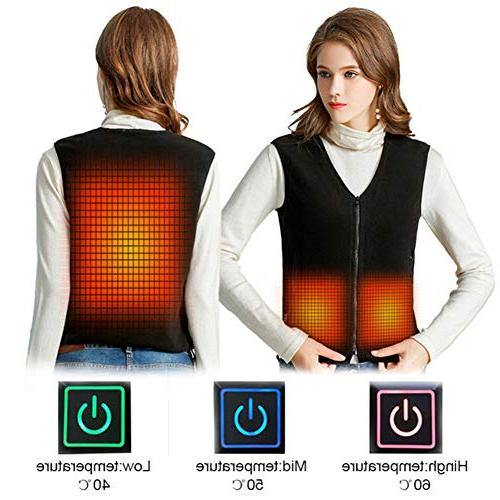 electric heated vest gilet women heating clothing