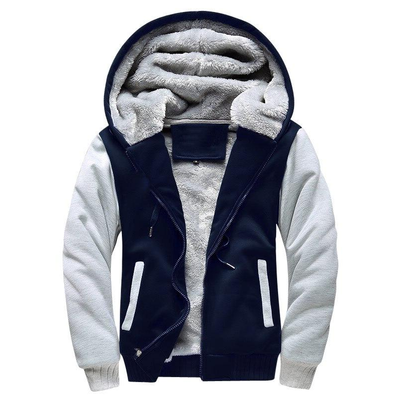 EU Size <font><b>Sweatshirts</b></font> 2019 <font><b>Winter</b></font> Thicken Fleece Zipper <font><b>Coats</b></font> Hombre <font><b>S</b></font>-5XL