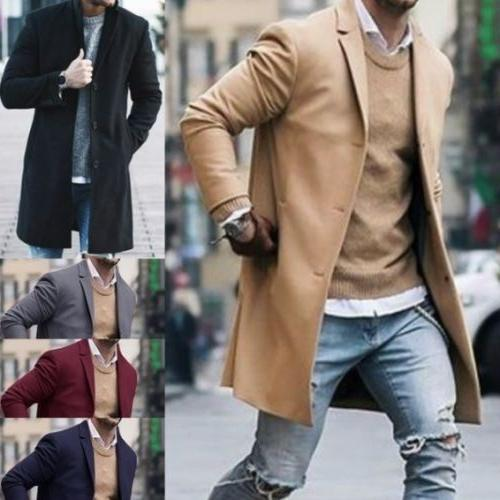 Fashion Winter Trench Overcoat Long USA