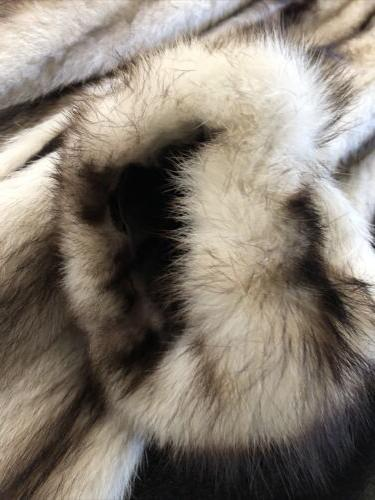 Vintage Fur Coat White Mink