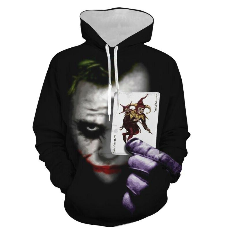 <font><b>Fashion</b></font> Printed Joker Pullover <font><b>Hoodie</b></font> Women Hip Hooded <font><b>Coat</b></font> Autumn <font><b>Winter</b></font>