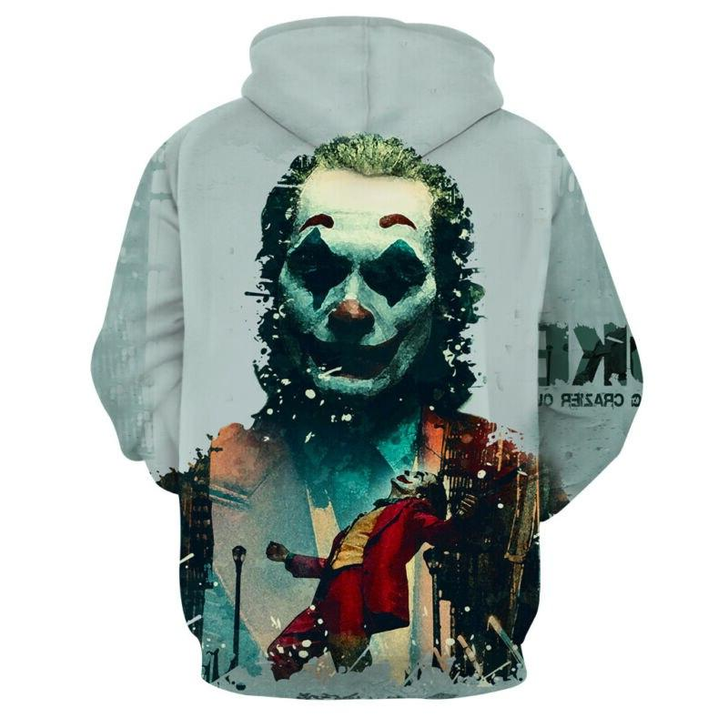 <font><b>Fashion</b></font> Clown Printed Women <font><b>Sweatshirt</b></font> Hop Hooded <font><b>Coat</b></font> Tops <font><b>S</b></font>-3XL Autumn