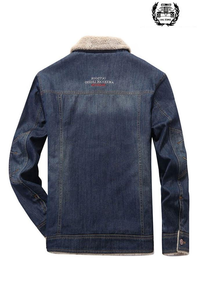 <font><b>Winter</b></font> <font><b>Fleece</b></font> Down Collar Denim <font><b>Jackets</b></font> Cotton <font><b>Coats</b></font> Down Thicken Casual Military <font><b>Jackets</b></font>