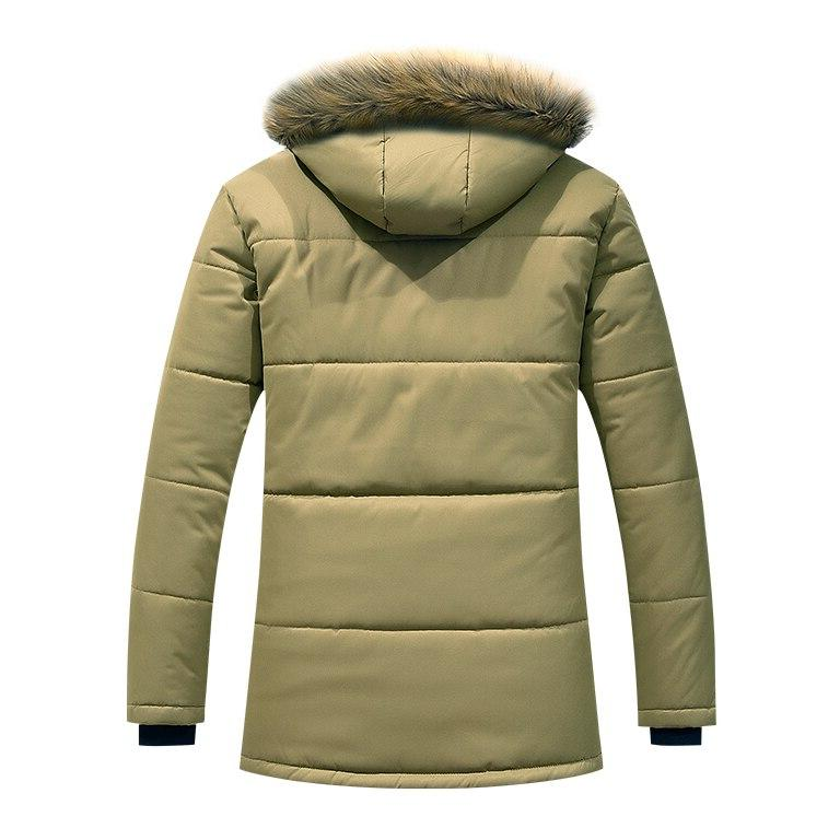 <font><b>Winter</b></font> Size 8XL Thick Warm Fur Casual <font><b>Coat</b></font> Pockets ,GA488