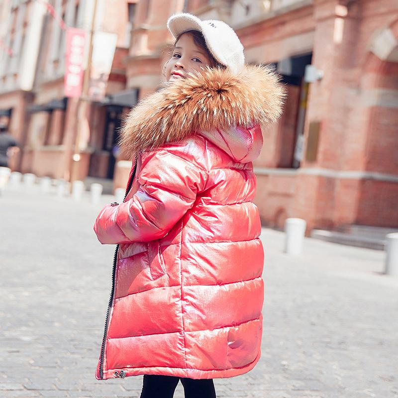 Free shipping Fashion Girl Down Warm Fur Thickening Outerwear For Cold <font><b>Winter</b></font>