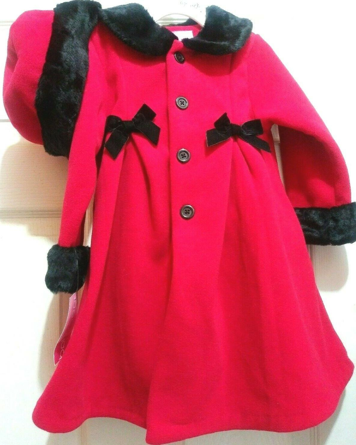 girl s size 4t long red black