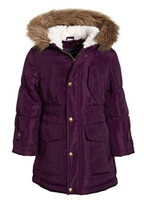 Sportoli Girls Fashion Winter Puffer Jacket Coat Sherpa Line