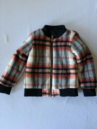 girls plaid insulated winter jacket coat size