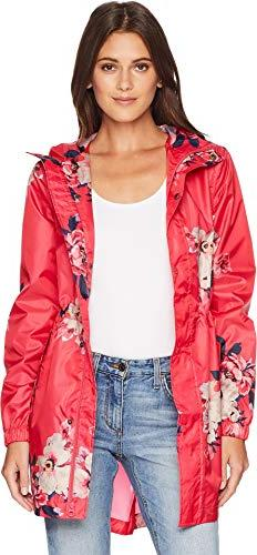 Joules Women's Golightly Waterproof Packaway Coat Raspberry
