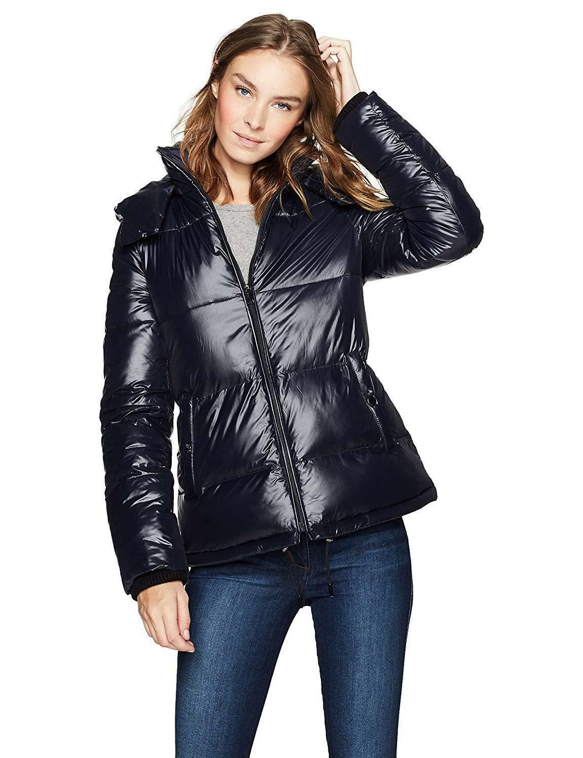 haven outerwear women s quilted funnel neck