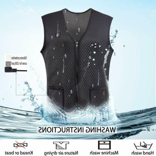 Heated Vest Warm Electric Men Thermal