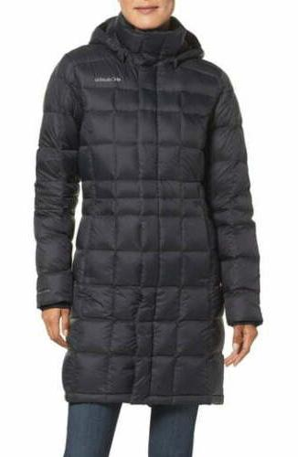 Columbia Women's Hexbreaker Long Down Jacket, Black, Medium