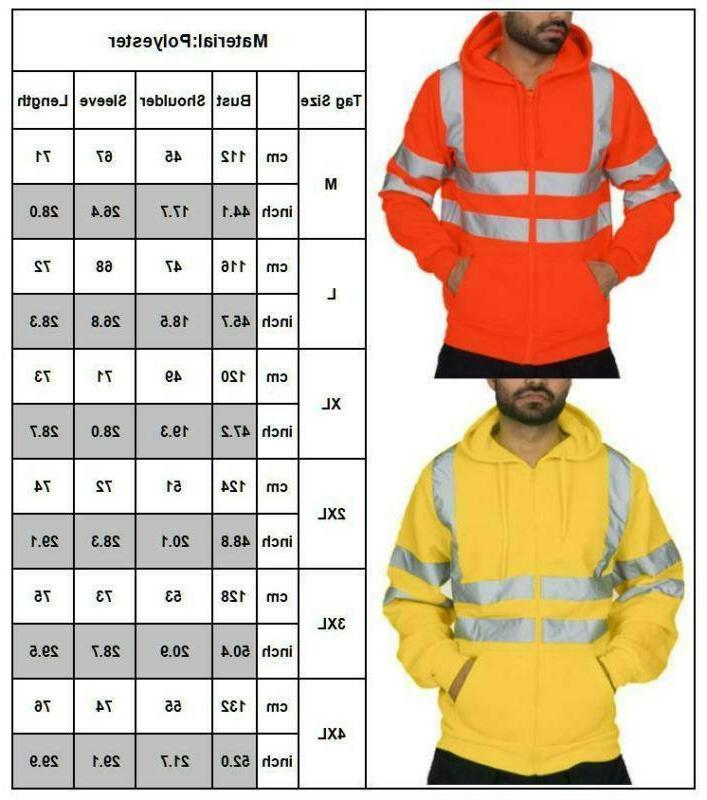 Hi Viz Hooded Safety Hoodie Insulated