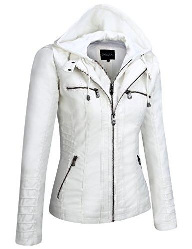 Tanming Women's Faux Leather Jackets