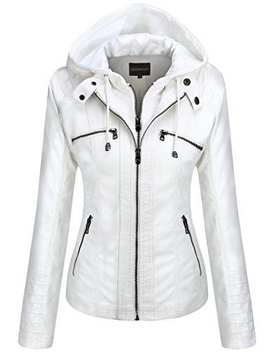 hooded faux leather jackets