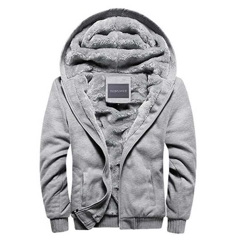 Hoodies Men Hooded Wool Thickened Warm