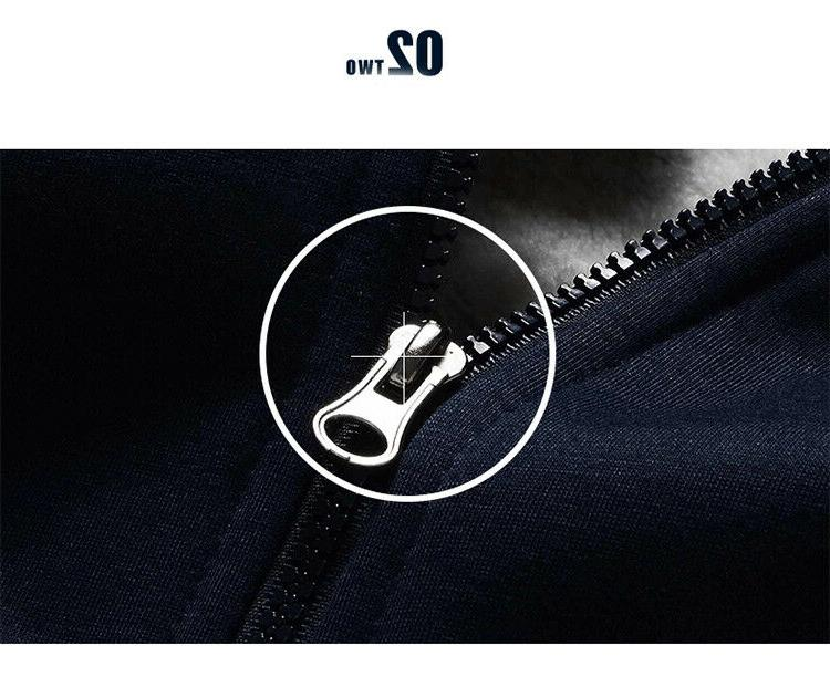 Hoodies Men Hooded Wool Thickened Coat