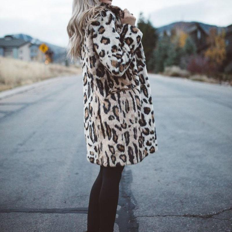 Hot Sale Winter Fur Leopard Warm Outwear