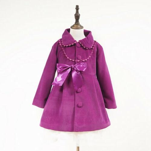 Kids Girls Long Trench Coats Wind