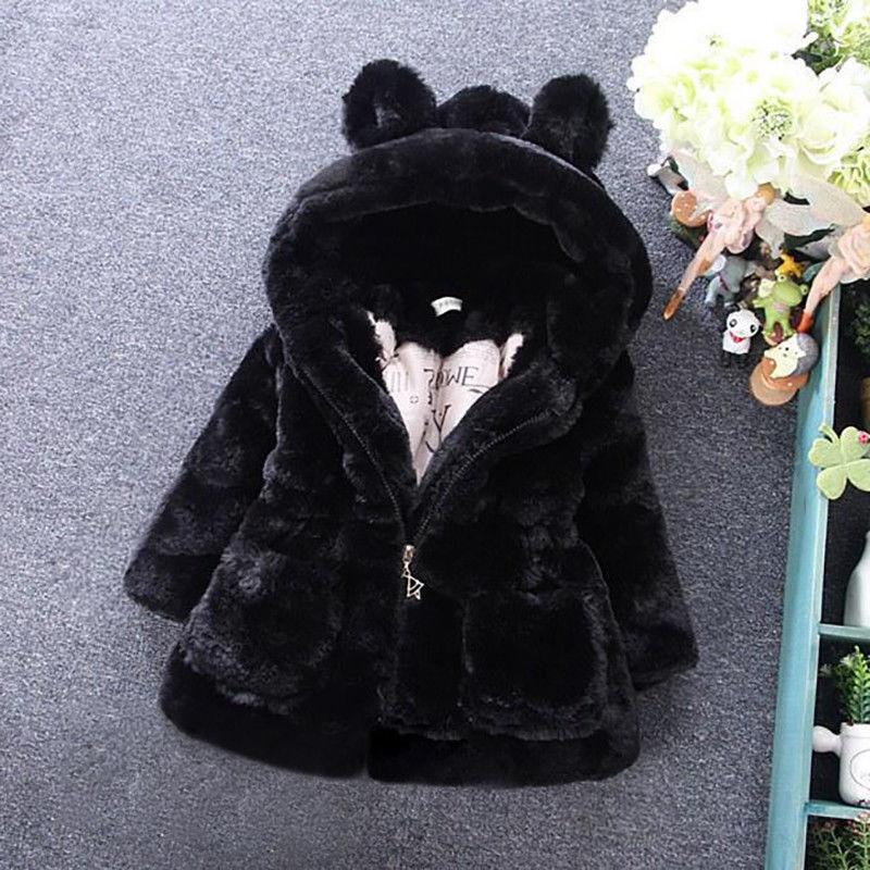 Toddler Warm Coat Hooded Outerwear Jacket