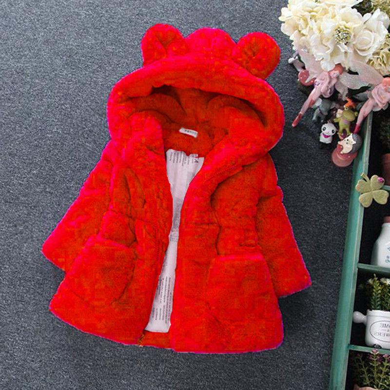 Toddler Kids Girls Winter Hooded Jacket Clothes