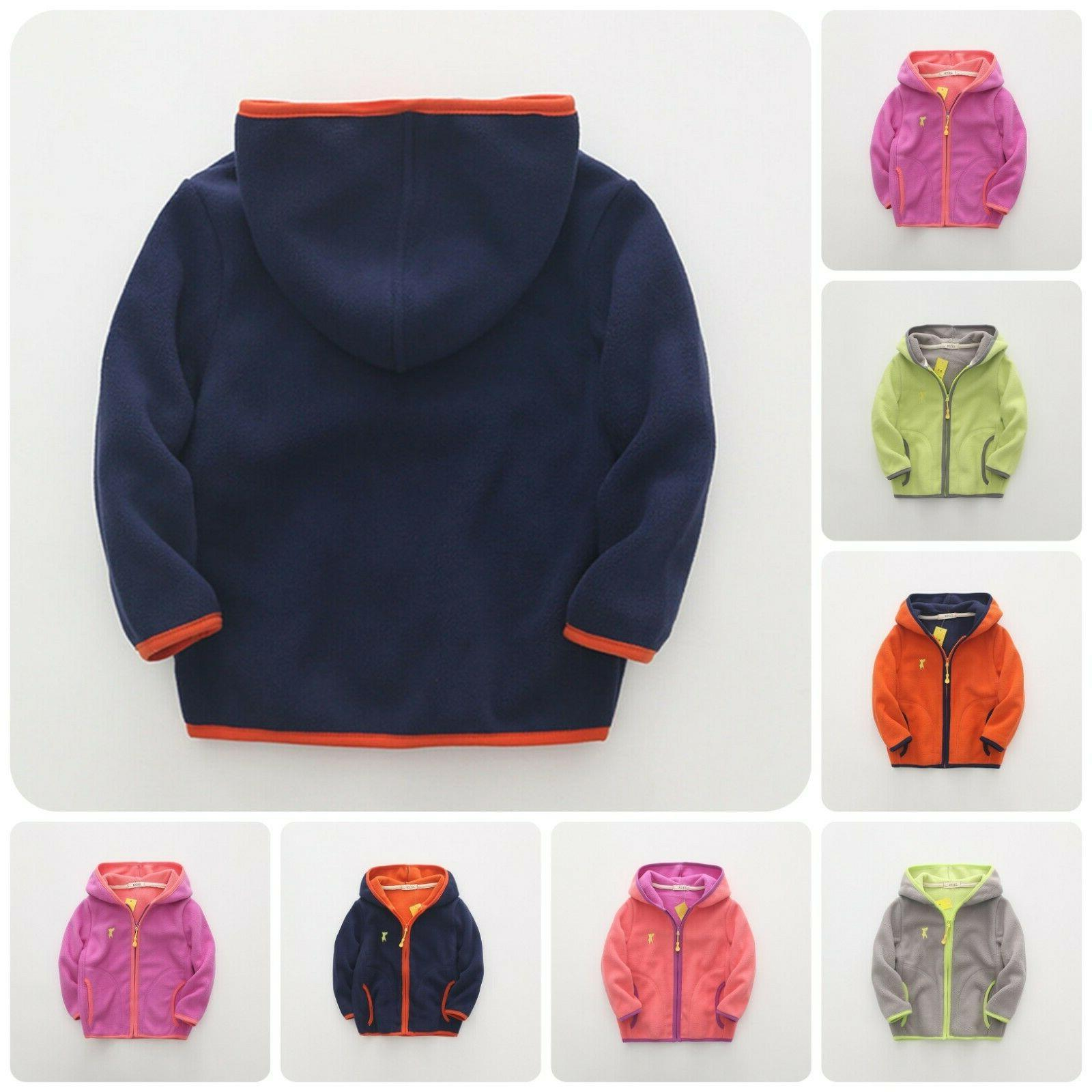 kids winter coats casual striped full sleeves