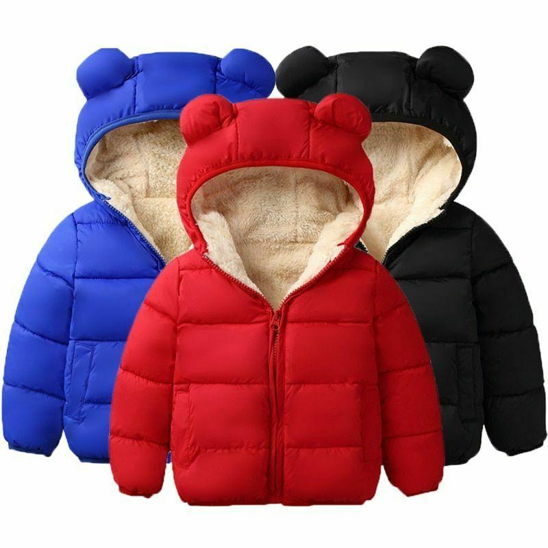 kids winter jacket warm hooded coat autumn