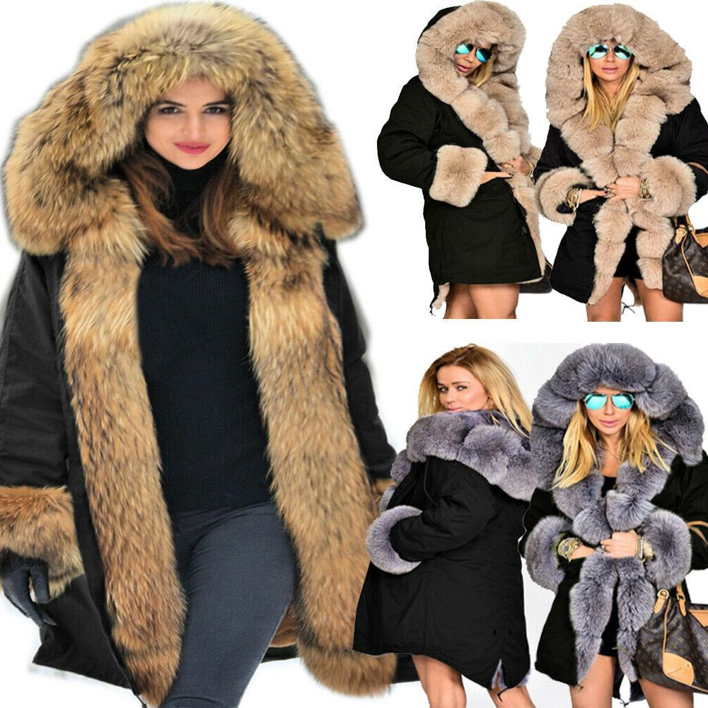 ladies fur lining coat womens winter warm