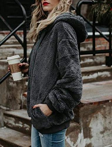 Ladies Winter Oversized Hoodie Coats