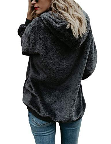 Ladies Hoodie Coats Dark Gray