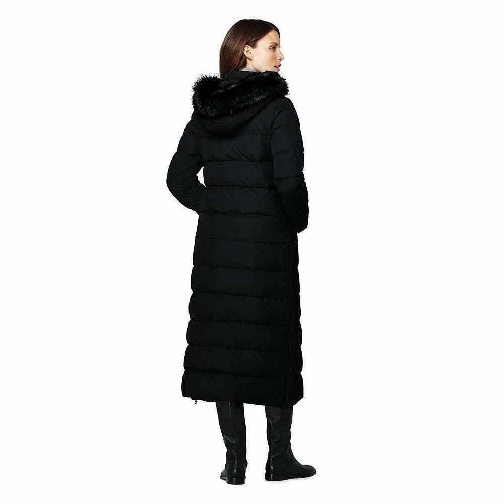 Lands' End Winter Down with Faux Fur Hood Faux