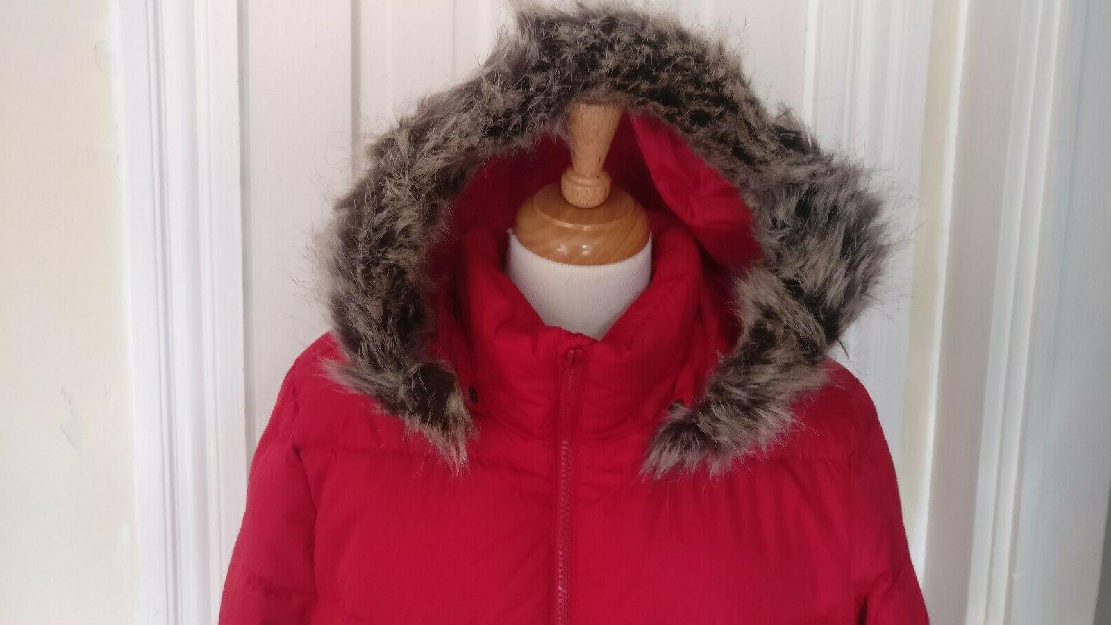 Lands End XL Winter Long Down with Red $239