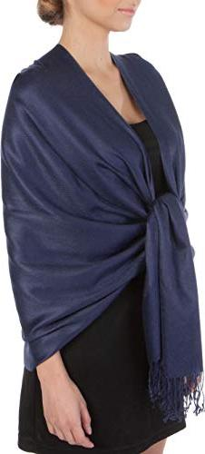Sakkas Large Soft Silky Pashmina Shawl Wrap Scarf Stole in S