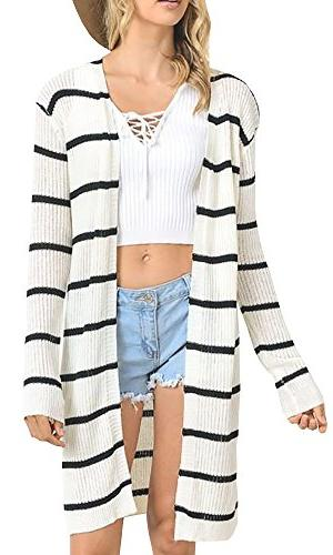 long sleeve striped knit draped