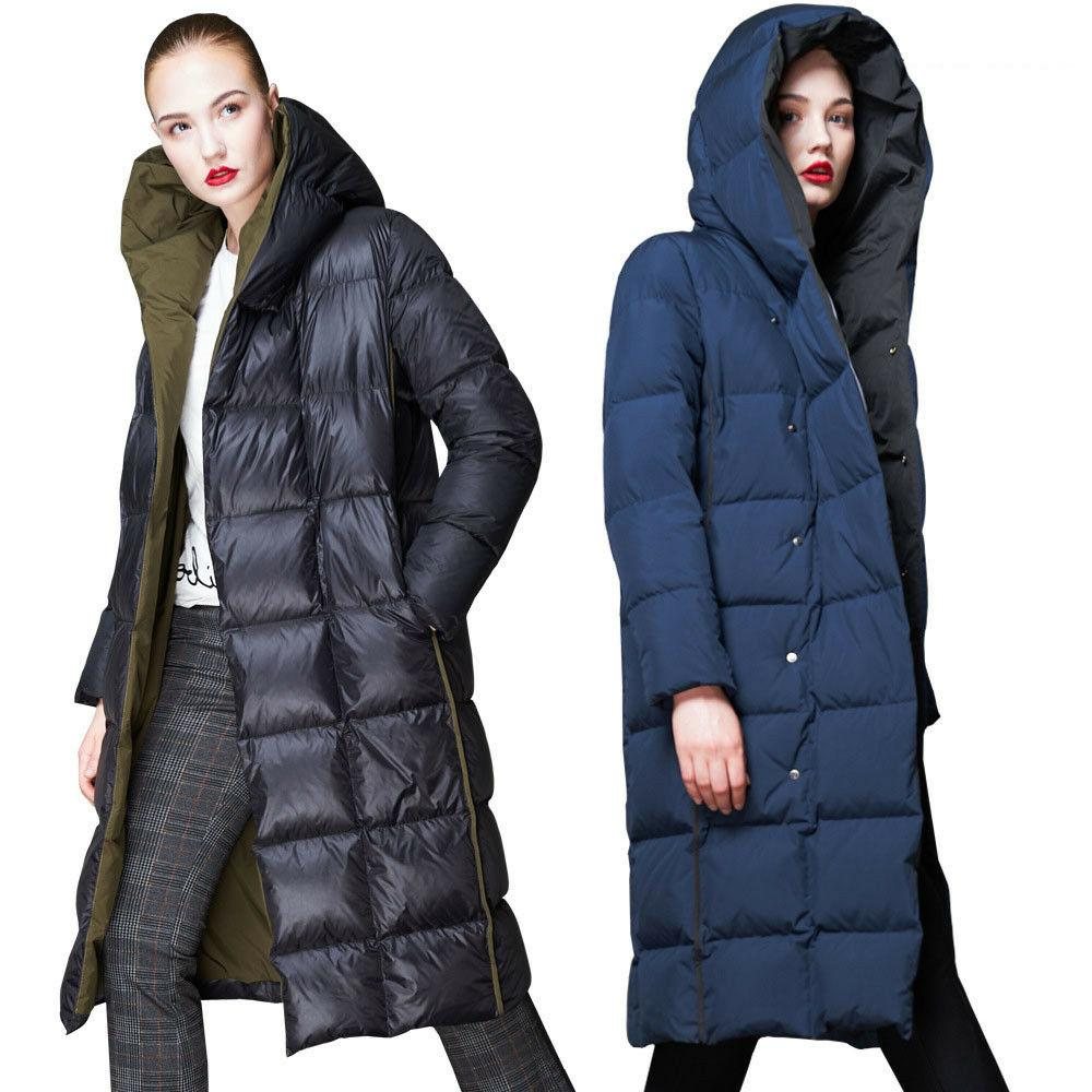 Luxury Women's 90% Down Coat Winter Parka Jacket Outwear Hoo