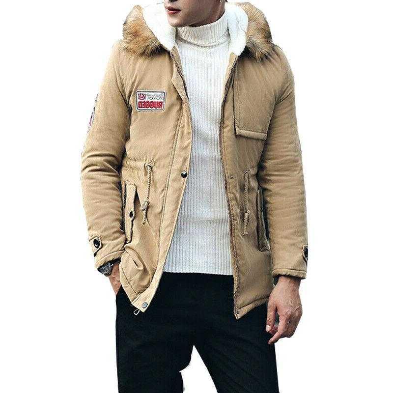 Men Coats Winter Jacket Men Fur Hooded Parka