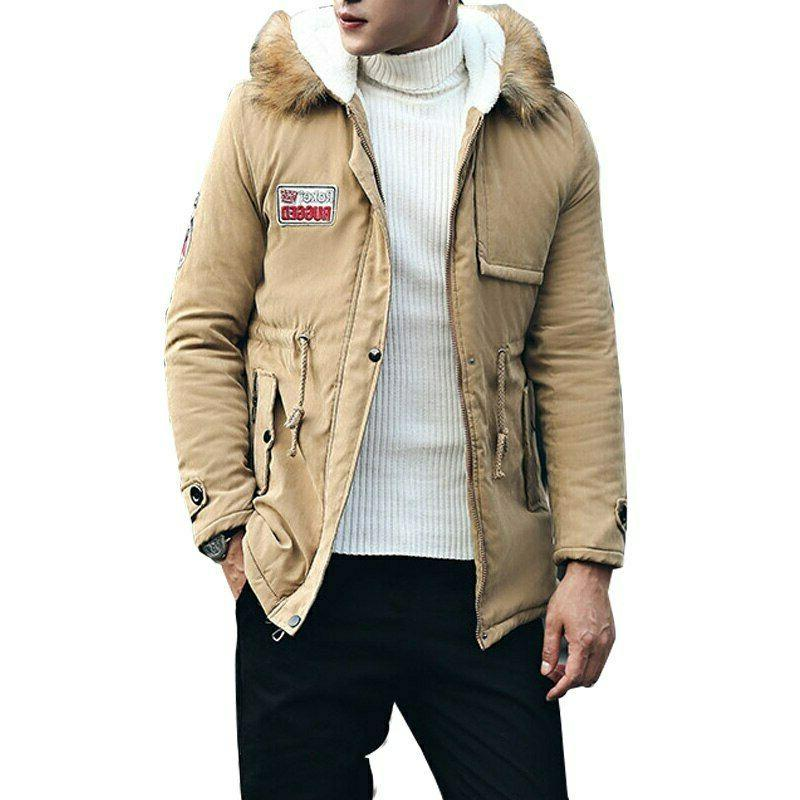 Men Winter Men Hooded Outwear Parka