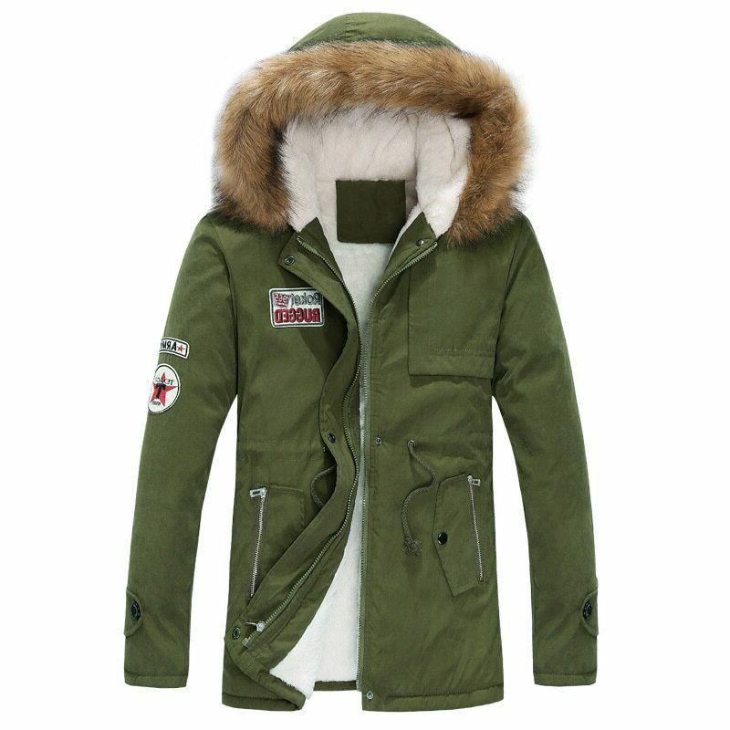 Men Coats Jacket Hooded Outwear Parka