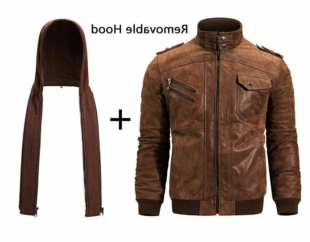 Men Removable winter Genuine Jackets