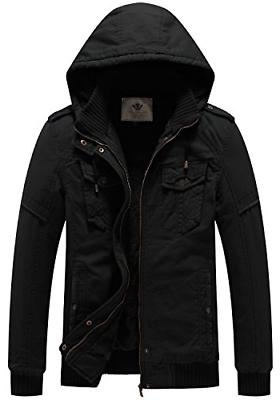 men s casual thick winter hooded coat