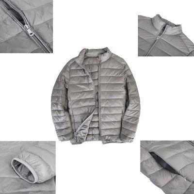 US Men's Jacket Ultralight Stand Coat Winter Outdoor