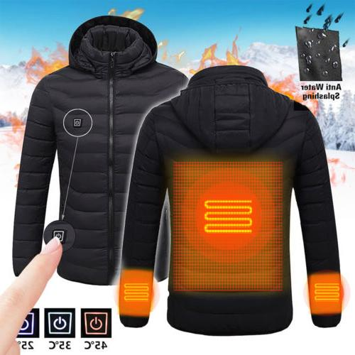 Men's Electric Battery Heated Hoodie Adjustable Temp