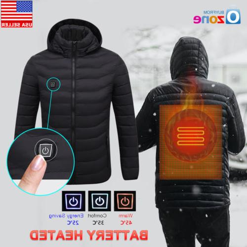 men s electric battery heated hoodie jacket