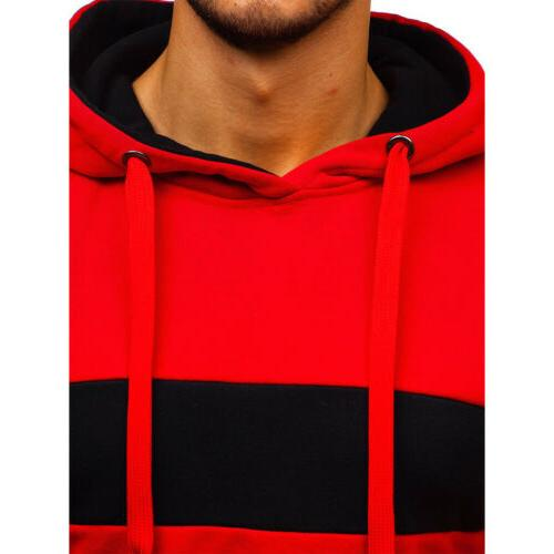 Men's Warm Hooded Sweatshirt Coat Jacket Outwear