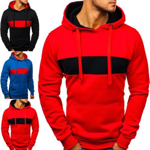 men s fashion winter hoodie warm hooded