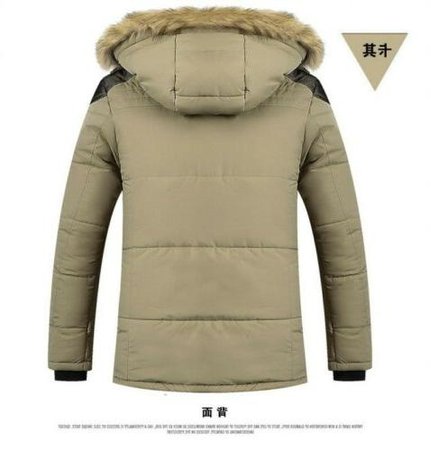 Men's Hooded Coat Fur Parka Casual