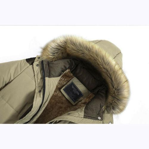 Men's Hooded Cotton Fur Collar Thick Warm Casual